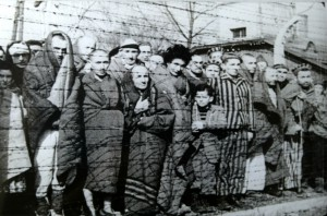 Befreite Häftlinge, Auschwitz-Birkenau, 1945. By Russian Government [Public domain or CC BY 3.0], via Wikimedia Commons