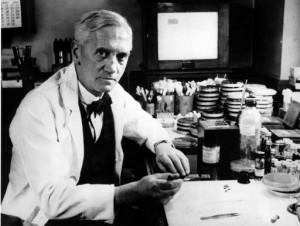 Alexander Fleming, Entdecker des Penicillins. By Calibuon at English Wikibooks [Public domain], via Wikimedia Commons