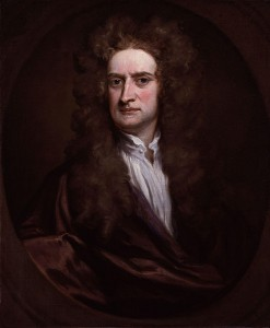 Isaac Newton porträtiert von Godfrey Kneller, London 1702, Bestand der National Portrait Gallery. Sir Godfrey Kneller [Public domain], via Wikimedia Commons